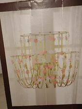 NEW Baby Girls Chandelier PINK FLOWERS Daisy White Floral Cascading Flowers Girl