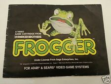 Atari and Sears Video System Frogger Game Instructions Manual Booklet Guide