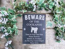 Divertente attenzione al cane Cockapoo ARDESIA Cancello Porta Placca Firmare