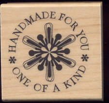 INKADINKADO HANDMADE FOR YOU SNOWFLAKE RUBBER MOUNTED WOOD BLOCK STAMP 60-00013