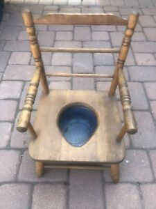 Vintage Wooden Potty Chair