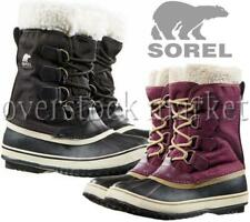 NEW WOMEN'S SOREL WINTER CARNIVAL SHERPA PILE WINTER SNOW BOOTS! NL1495 VARIETY!