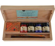 Manuscript Calligraphy Artist Dip Pen Wooden Box Set - N4701
