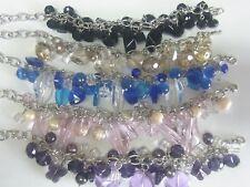 19 Armbänder mit Glaskristall * Kristalarmband Paket Charmsarmband Bettelarmband