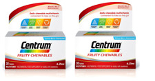 2X Centrum Fruity Chewables Multivitamin & Mineral - 30 Tablets