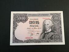 BILLETE DE 5000 PESETAS DE CARLOS III DEL AÑO 1976.EN BUEN ESTADO! (SIN SERIE)