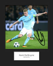 KEVIN DE BRUYNE #2 - MANCHESTER CITY Signed 10x8 Mounted Print - FREE DELIVERY