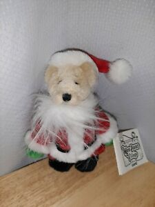 Ganz Wee Bear Village Santa Plush Christmas Miniature Teddy Bear