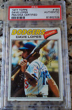 DAVE Davey LOPES 1977 Topps #180 PSA DNA Certified Autograph Auto L.A. Dodgers