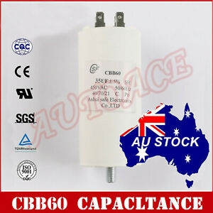CBB60 35uF 8mm Thread White Polypropylene Film Start Capacitor AC450V OZ SELLER