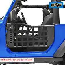 EAG Black Trail Matrix 2 Tubular Doors Without Mirror for 07-18 Jeep Wrangler JK