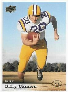 BILLY CANNON 2013 Upper Deck College Greats card #27 LSU Tigers Football NR MT