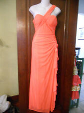 BLONDIE NITES Bright Coral One-Shoulder Formal Size 3