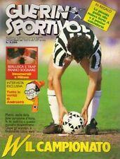 GUERIN SPORTIVO=N°37 1986=GUIDA AL CAMPIONATO .86/87=POSTER CALENDARIO SERIE A/B