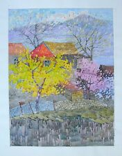 Original Colorful Watercolor Landscape Painting - Listed Armenian Artist- COA