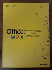 3er Lizenz! Microsoft MAC Office 2011 Home & Student Vollversion / DVD / deutsch