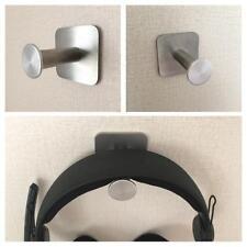 Universal Stainless Steel Headphone Holder Headsets Hanger Wall Desk Mount Hook