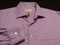 Tommy Bahama Mens sz 16.5 Long Sleeve Button-Front Multicolor Plaid Check Shirt