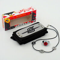 Anime Naruto Uchiha Itachi Pendant Necklace +Zhu Ring+Headband Cosplay 3Pcs/set