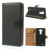 LG G3 Mobile Smart Phone Genuine Leather Wallet Flip Case Cover Card Holder New