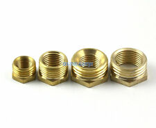 "10 Brass 1/2"" Male To 1/4"" Female BSP Reducing Bush Reducer Fitting Connector"