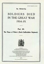 More details for the north staffordshire regiment ,soldiers died in the great war. 1914-19  book