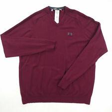 Under Armour Golf Merino Wool Sweater Men's L Burgundy 1263302-600 $119