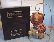 Limited Edition CHRISTOPHER RADKO FAO Schwarz Teddy Bear w/Toy Blocks Ornament