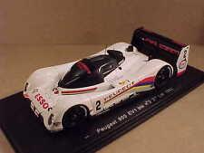 Spark 1/43 Peugeot 905 EV1 bis, 3rd 1992 LeMans, ESSO #2, Baldi et al  #S2595