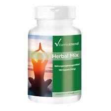 Herbal Mix - 180 Kapseln - Pflanzenextrakte, B6, B12 und Folsäure Vitamintrend