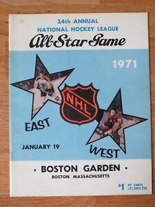 1971 ALL STAR Hockey Game Boston Garden Program BOBBY HULL MVP ORR PHIL ESPOSITO