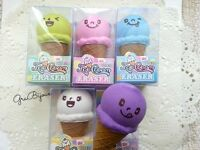 Gommina gomma da cancellare eraser gelato kawaii cartoleria vari colori