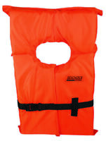 "BOAT MARINE WATERSPORTS ADULT LIFE JACKET VEST PFD ORANGE 90LBS & UP CH-30""-52"""