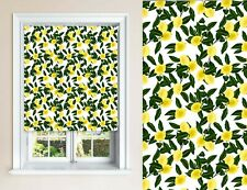 Yellow Lemon Design Blackout Roller Blinds Window Child Safety Cut To Size