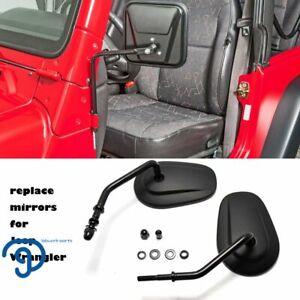 For Jeep Wrangler JL JKU JK TJ Door Hinge Off Mirrors Side Rearview Mirrors Pair