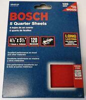 "Bosch SS4R120 5 Piece 120 Grit 4-1/4"" x 5-1/2"" General Purpose Sanding Sheets"