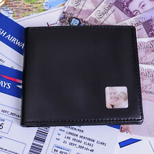 Men's PERSONALISED with a Photo wallet Faux leather wallet - Birthday Dad Wallet