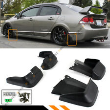 FOR 2006-11 8TH GEN HONDA CIVIC FD 4DR SEDAN MUD FLAPS SPLASH GUARD FRONT + REAR