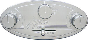 Vintage Air Gen II 2 Polished Oval control panel air conditioning Controls A/C 2
