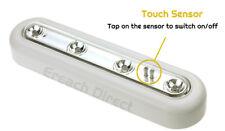 WHITE SUPER BRIGHT LED TOUCH LIGHT DIMMABLE TILT TAP STICK ON BATTERY 8058-WT-M