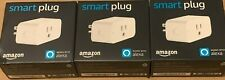 3 Amazon Smart Plugs White Works with Alexa voice control brand new sealed