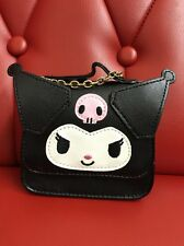 Sanrio Original: Mini Kuromi Purse Keychain / Accessory With Chain (TSC)