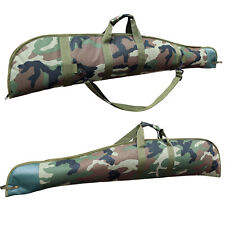 Super Deluxe Padded Hunting Camo Rifle Gun Carry Slip Case Bag Air Woodland