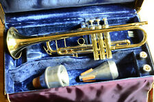 Stradivarius trumpet model 37 Vincent Bach with 2 mouth piece, mutes, hard case