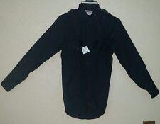 Elbeco checkpointe Mens L/S shirt, size S (14-14.5X33) blue navy, style U614