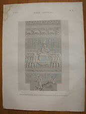 DESCRIPTION DE L'EGYPTE, 1809, ESNE (LATOPOLIS) PLANCHE 81