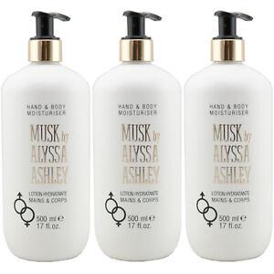 Alyssa Ashley HAND & BODY LOTION MUSK 3 x 500 ml unisex
