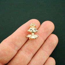 4 Angel Charms Goldplated Enamel Fun and Colorful E277