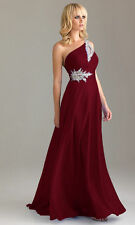 Long Chiffon Wedding Formal Evening Party Dresses Bridesmaid Ball Gown Size 6-28