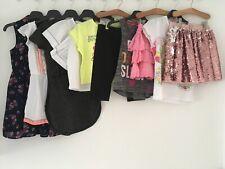 GIRLS 7-8 YEARS SUMMER CLOTHES BUNDLE ZARA NEXT H&M TU ETC DRESSES PLAY SUIT